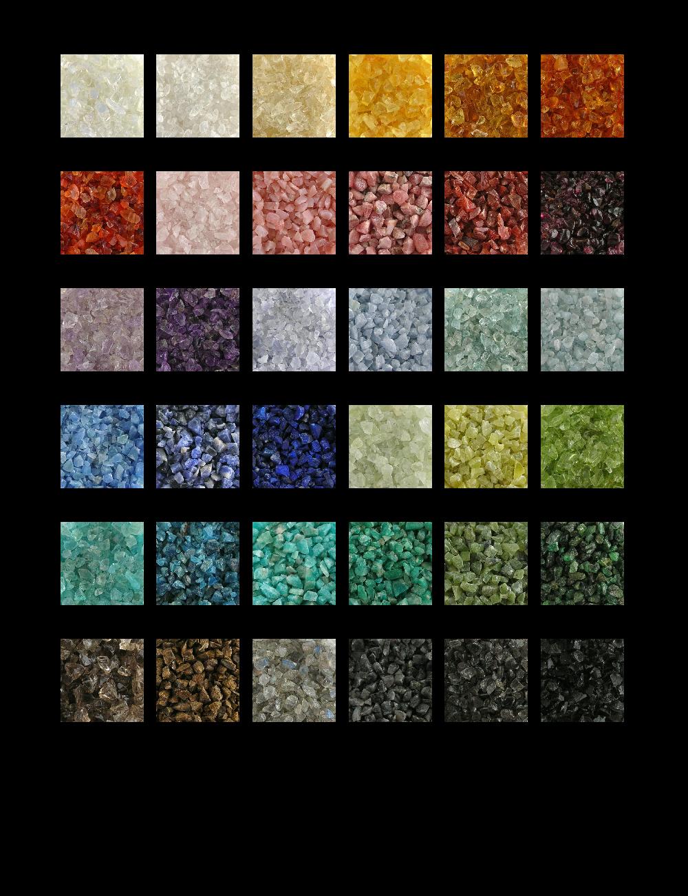 Sample Gemstones – Sample General Color Chart